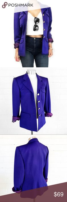 Vintage Alberto makali blazer Must have staple piece for every wardrobe in super chic color. I take all photos myself of the actual item. No trades. Always open to offers Alberto Makali Jackets & Coats Blazers