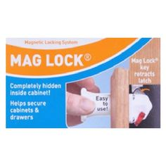 Dream Baby Mag Lock On/Off Magnetic Cabinet Child Safety Latch - Lock and/or Key