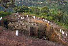 Morning Worshippers at St. George's - Lalibela, Ethiopia. Buy this print: http://www.bencrosbiephotography.pixieset.com/photography