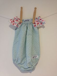 Baby Girl Romper Playsuit - Pale Blue spots with floral trim by MilaMooAndCrew on Etsy https://www.etsy.com/listing/241661753/baby-girl-romper-playsuit-pale-blue