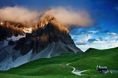 Dolomites mountains.
