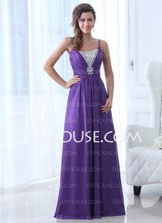 Evening Dresses - $142.69 - A-Line/Princess Scoop Neck Floor-Length Chiffon Evening Dress With Beading (017017365) http://jjshouse.com/A-Line-Princess-Scoop-Neck-Floor-Length-Chiffon-Evening-Dress-With-Beading-017017365-g17365
