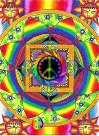 Rainbow Mandala by Nusitz Daniéla Isabela Hippie Life, Hippie Art, Peace On Earth, World Peace, Peace Sign Art, Peace Signs, Give Peace A Chance, Circle Art, Fractal Art