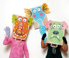 Masque monstre en sac en papier, Masque à fabriquer - Loisirs créatifs
