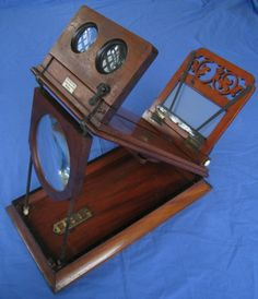 Antique Stereoscope Viewer for Stereoviews including Graphoscope