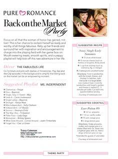 Back on the Market Pure Romance Party Theme Shop with me ♥ Website: www.PureRomance.com/stephaniedearman ♥ Facebook: Pure Romance by Stephanie ♥ Email me: pureromance.stephanied@yahoo.com ♥ Call or text @: 409-988-3084