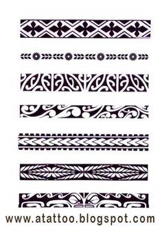 Padrões de bracelete maori. Mais