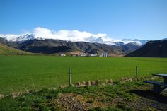 Eyjafjallajökull, view from þorvaldseyri in the south.  May 2013