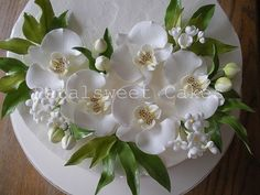 Single Tier Orchid Wedding Cake by Petalsweet Cakes | Flickr - Photo Sharing!