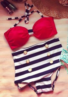 For sale: trendy high-waist swimwear Shop now @ https://www.facebook.com/eboutique.cebu.