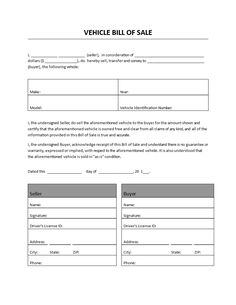 FreeVehicleBillOfSale    Car Bill Of Sale Template  Legal