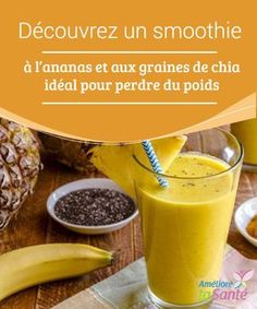 Discover a perfect pineapple chia-seed smoothie for weight loss - Fitness Doctors! Chia Seed Smoothie, Smoothie Prep, Strawberry Smoothie, Fruit Smoothies, Smoothie Recipes, Healthy Dog Treats, Healthy Recipes, Healthy Lemonade, Recipe For Teens