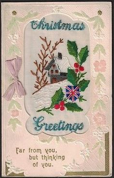 Ww 1 silk #christmas #greeting #card, (1).,  View more on the LINK: http://www.zeppy.io/product/gb/2/331872286975/