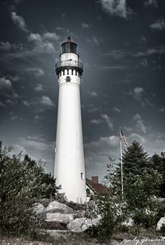 Windpoint Lighthouse in Racine, WI by Cindy Garwood