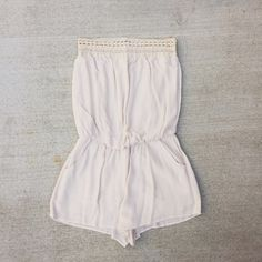 ANGL nude romper strapless romper ANGL Pants Jumpsuits & Rompers