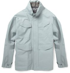 Arc'teryx Veilance waterproof jacket.  Perfect for Seattle!