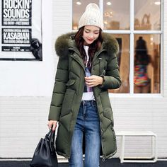 Women jackets Fur Hooded Jacket for women Padded Cotton Down Winter Coat women Long Parka Womens Coats Clothing Plus size Like and Share if you agree! Get it here