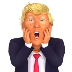 Dedipic – Free Images and Animations Donald Trump Funny, Mr Trump, Funny Caricatures, Celebrity Caricatures, Donald Trump Caricature, Trump Stickers, Stupid Guys, Trump Cartoons, Funny Dachshund