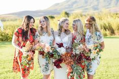 Wedding bouquets Fall Flowers, Wedding Bouquets, Kimono Top, Autumn, Photo And Video, Floral, Instagram, Women, Art