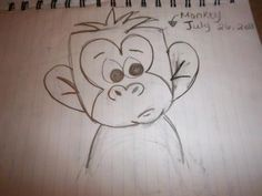 how to draw a funny monkey