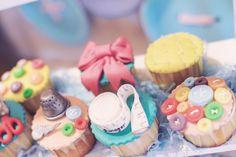 Fondant topped cupcakes at a Lalaloopsy Party #lalaloopsy #partycupcakes