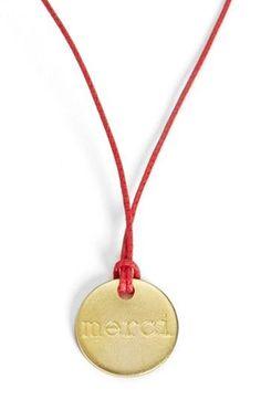 Merci! Medal Necklace