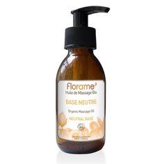 Support neutre pour les mélanges d'huiles essentielles: Huile de massage neutre bio Florame - Base neutre personnalisable - les- huiles-essentielles-bio