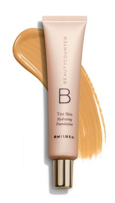 Our game-changing Tint Skin Foundation is a lightweight, creamy foundation that cares for your skin. The formula goes on seamlessly and blends effortlessly to cover imperfections and even skin tone. And sodium hyaluronate, a natural moisture magnet, promotes smoother-looking skin and reduces the appearance of fine lines and wrinkles. The coverage level is up to you: For a sheer no-makeup look, apply with our Retractable Complexion Coverage Brush, and for medium coverage, apply with our Flat…