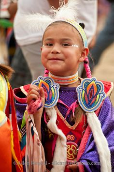 A young dancer at the Milk River Powwow, Fort Belknap Reservation, Montana. Photo by Allen Russell. No date.