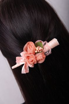 Pale Pink Hair Flowers Wedding Hair Piece Bridesmaids Hair Pieces Maroon and Pink and Greenery Headpiece Floral Hair Piece Hair Clip Flowers Wedding Hair Flowers, Wedding Hair Pieces, Flowers In Hair, Floral Flowers, Hairdo For Long Hair, Bun Hairstyles For Long Hair, Brown Curls, Long Brown Hair, Flower Girl Headbands