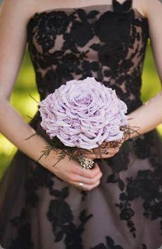 Unique composite bouquet made of individual lavender  rose petals by natural beauties floral #compositebouquet #glamelia #weddings #bouquet