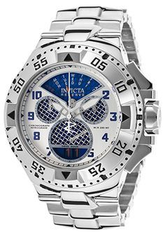 b2a34fc7e98 INVICTA Men s Excursion Reserve Chrono Stainless Steel Blue Carbon Fiber  Dial Invicta s Excursion series presents a bold stainless steel watch  that s ideal ...