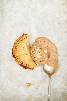 strawberry hand pies + chocolate hazelnut ice cream