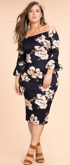 Plus Size Off Shoulder Dress Women Big Size Clothes - http://amzn.to/2ix7dK5
