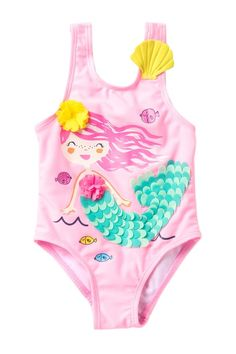 0f2e40ff7d12f 3D Mermaid One-Piece Swimsuit (Baby & Toddler Girls)