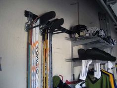 Store hockey equipment - or any sports equipment - easily like this in your garage. #ClosetMaid