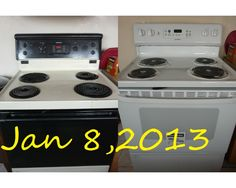 new & old stove oven