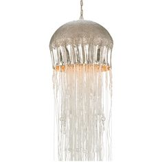 Majestic Jellyfish Chandelier, Large ($1,230) ❤ liked on Polyvore featuring home, lighting, ceiling lights, jellyfish lights, jellyfish chandelier, jelly fish lights, jellyfish lamp and beaded lamp