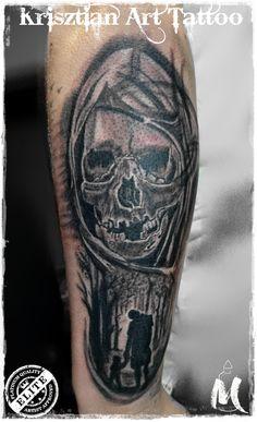 Skull shilouette - Krisztian Art Tattoo