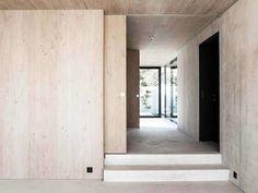 House in Riehen located in Basel, Switzerland by Reuter Raeber Architects Concept Architecture, Residential Architecture, Interior Architecture, Interior Minimalista, Minimalist Interior, Minimalist Design, Cottage Hallway, Door Design, House Design