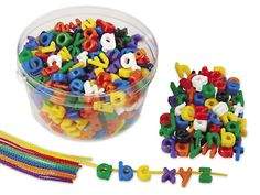 Lace-A-Word Lowercase Beads at Lakeshore Learning
