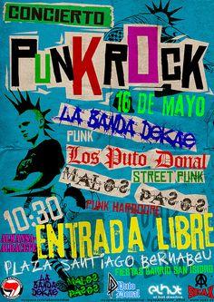 Advertisement poster punk show