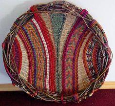Montana Blue Heron Marilyn Evans and Wm. Weaving Textiles, Weaving Art, Loom Weaving, Tapestry Weaving, Willow Weaving, Basket Weaving, Circular Weaving, Bag Crochet, Creation Deco