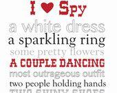I Spy Wedding Game or Bridal Shower Game-- Personalized Digital File