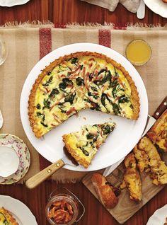 Quiche rösti Quiche Recipes, Egg Recipes, Yummy Recipes, Breakfast Time, Breakfast Recipes, Quiches, Menu Brunch, Confort Food, One Pan Meals