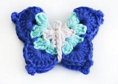 gomita mariposa en gama de azules 1 - de las bolivianas — de las bolivianas