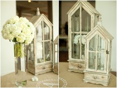 Prop ideas... I have a metal one that is similar but shorter   Dallas wedding photographer, wooden lanterns, reception decorations, white wedding flowers | J.Crew/Anthro Inspired Wedding | Dallas, TX Mary Fields Photography