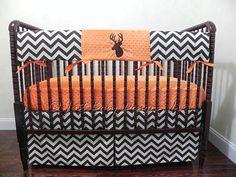 Deer Crib Bedding Set Bowen -  Boy Baby Bedding, Baby Boy Crib Bedding, Crib Rail Cover, Deer Baby Bedding, Woodland Nursery