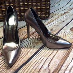 "COLIN STUART PEWTER PUMPS Stunning pumps in excellent condition with a 4.5"" heel. Colin Stuart Shoes Heels"
