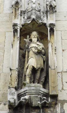 Statue of Saint Olaf, Parish Church of St. Olave, Marygate, York, England.